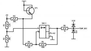 Датчик температуры на транзисторе
